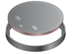 134 1 300x225 - Tapa redonda plana de 610 mm con junta. mod. FL600