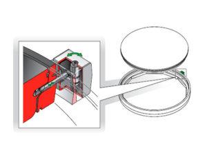 FIB90 L 300x225 - Cerradura para tapas redondas. mod. FIB90-L