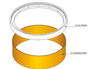 FL100 SK300 300x225 - Faldón de encofrado de 300 mm para tapa FL100. mod. FL100-SK300
