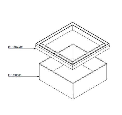 FL1 SK300 - Faldón de encofrado de 300 mm para tapa FL1. mod. FL1-SK300