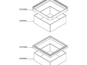 FL10 76 SK300 300x225 - Faldón de encofrado de 300 mm para tapas FL10 y FL76. mod. FL10/76-SK300