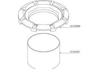 FL12 SK300 300x225 - Faldón de encofrado de 300 mm para tapa FL12. mod. FL12-SK300