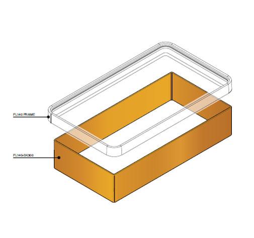 FL140 SK300 - Faldón de encofrado de 300 mm para tapa FL140. mod. FL140-SK300