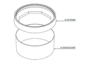 FL180 SK300 300x225 - Faldón de encofrado de 300 mm para tapa FL180. mod. FL180-SK300