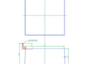 FL60 SK300 300x225 - Faldón de encofrado de 300 mm para tapa FL60. mod. FL60-SK300