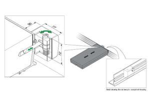 FM45 L 300x225 - Cerradura para tapas tipo panel. mod. FM45-L
