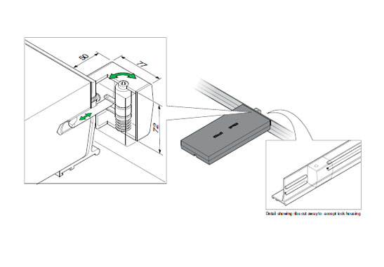 FM45 L - Cerradura para tapas tipo panel. mod. FM45-L