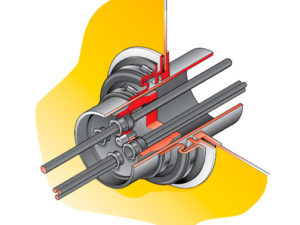 PCE 1 KIT 300x225 - Pasamuro con inserción para tubo rígido de 110 mm con prensaestopas para distintos cables. mod. PCE 1-KIT