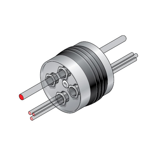 PCE 1 - Inserción para tubo rígido de 110 mm con prensaestopas para distintos cables. mod. PCE-1
