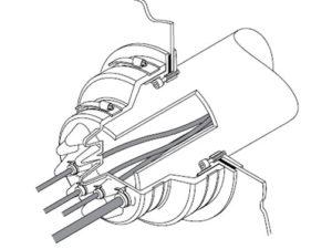 PCE 2 300x225 - Pasamuro con tetones hasta 16 cables. mod. PCE 2