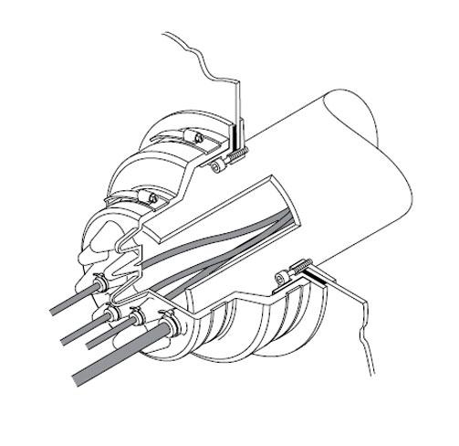PCE 2 - Pasamuro con tetones hasta 16 cables. mod. PCE 2