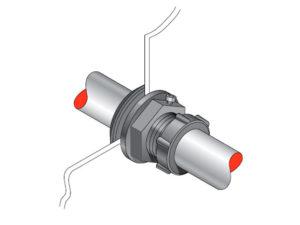 PEC 33 300x225 - Pasamuro simple para tubería metálica de 33 mm exterior. mod. PEC 33