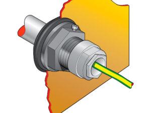 """PEC2 33 300x225 - Pasamuro para tubo de acero de 1"""" con prensaestopa para 1 ó 3 cables. mod. PEC2-33"""