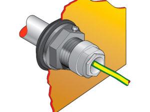 """PEC2 50 300x225 - Pasamuro para tubo de acero de 11/2"""" con prensaestopa para 1 ó 3 cables. mod. PEC2-50"""