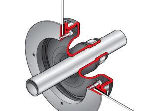PSB 27 300x225 - Pasamuro simple para tubería de 27 mm exterior. mod. PSB 27