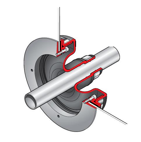 PSB 27 - Pasamuro simple para tubería de 27 mm exterior. mod. PSB 27