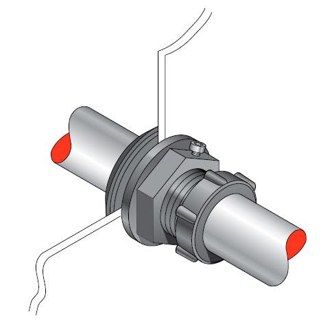 PSB 33 - Pasamuro simple para tubería de 33 mm exterior. mod. PSB 33