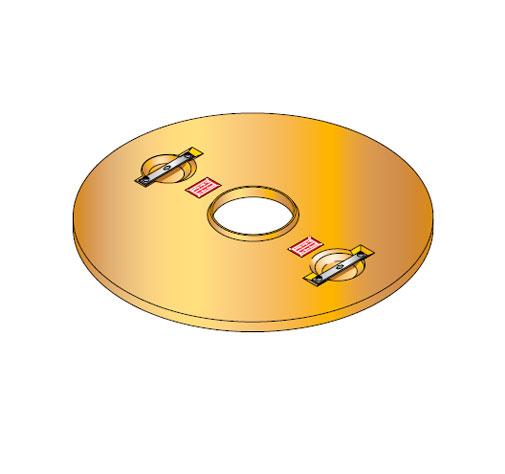 S LID ROUND 100 CD - Tapadera con agujero central para cuello de arqueta de 1000 mm. mod. S-LID-ROUND-100-CD