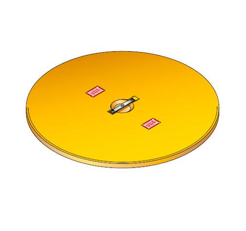 S LID ROUND 100 - Tapadera para cuello de arqueta de 1000 mm. mod. S-LID-ROUND-100