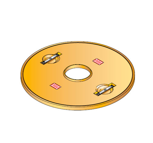 S LID ROUND 20 - Tapadera con agujero central para cuello de arqueta de 900 mm. mod. S-LID-ROUND-20