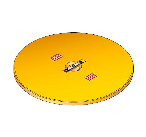 S LID ROUND - Tapadera para cuello de arqueta de 900 mm. mod. S-LID-ROUND
