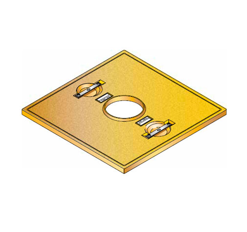 S LID SQUARE 20 - Tapadera con agujero central para cuello de arqueta cuadrado de 760 mm. mod. S-LID-SQUARE-20