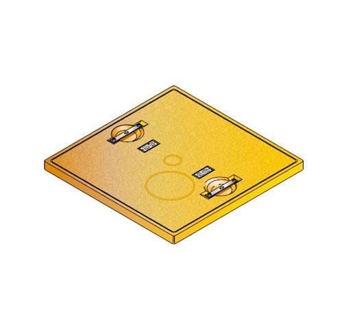 S LID SQUARE SOLID - Tapadera pisable para cuello de arqueta cuadrado de 760 mm. mod. S-LID-SQUARE-SOLID