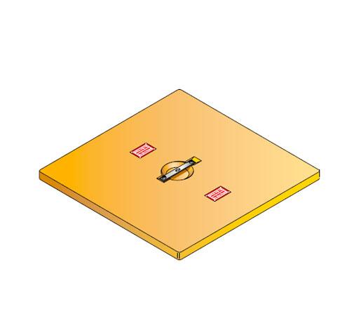 S LID SQUARE - Tapadera para cuello de arqueta cuadrado de 760 mm. mod. S-LID-SQUARE