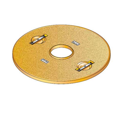 S S LID ROUND 100 CD - Tapadera pisable con agujero central para cuello de arqueta de 1000 mm. mod. S-S-LID-ROUND-100-CD