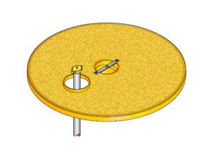 S S LID ROUND D EU3 300x225 - Tapadera pisable con agujero desplazado para cuello de arqueta de 900 mm. mod. S-S-LID-ROUND-D-EU3