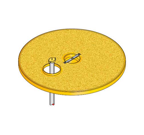 S S LID ROUND D EU3 - Tapadera pisable con agujero desplazado para cuello de arqueta de 900 mm. mod. S-S-LID-ROUND-D-EU3