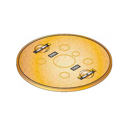 S S LID ROUND SOLID - Tapadera pisable para cuello de arqueta de 900 mm. mod. S-S-LID-ROUND-SOLID