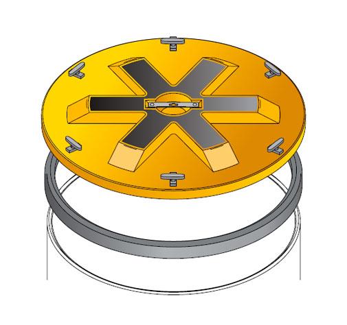S S LID ROUND WT - Tapadera con cierre estanco para cuello de arqueta de 900 mm. mod. S-S-LID-ROUND-WT